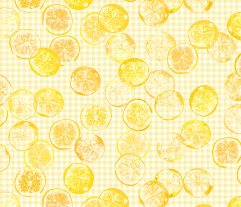 sunshine lemons and oranges fabric by weavingmajor on Spoonflower - custom fabric