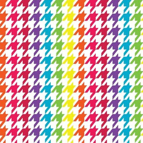Rainbow Wave Houndstooth (Small)