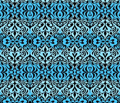 Two- Toned Blue Warp Out fabric by whimzwhirled on Spoonflower - custom fabric