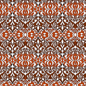 Warp pattern in rich red browns