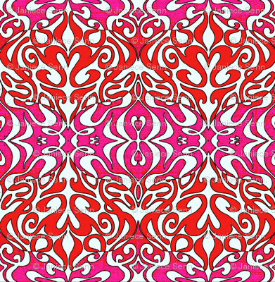 Warp in Pink and Red