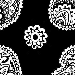 Paisley Large Format Black Background