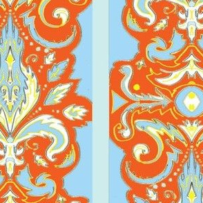 Sunrise Damask Stripe