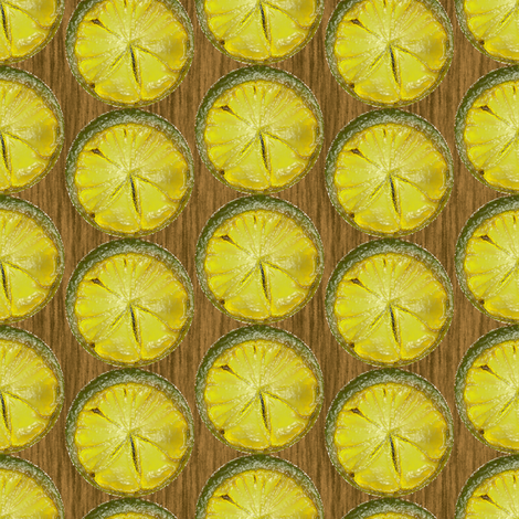 Citrus Clocks fabric by eclectic_house on Spoonflower - custom fabric