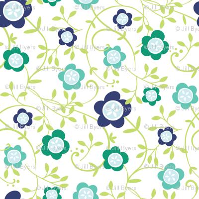 Button Flower Vine