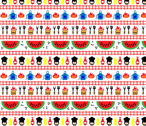 Mark's Picnic Time fabric by kfrogb on Spoonflower - custom fabric