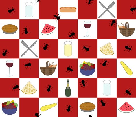 Summer Picnic Gear Print fabric by digigirl66 on Spoonflower - custom fabric