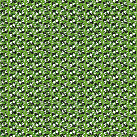 Victorian Long Black and Green Dresses Collage Fabric  fabric by lworiginals on Spoonflower - custom fabric