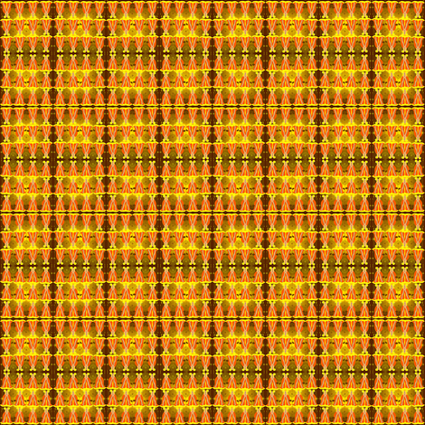 Victorian Orange and Yellow Dresses Collage Fabric  fabric by lworiginals on Spoonflower - custom fabric