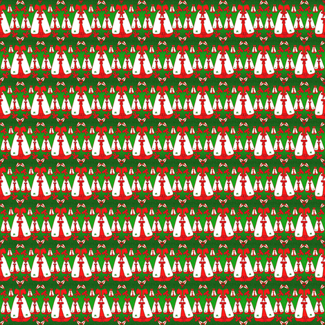 Victorian Christmas Dresses Collage Fabric  #2 fabric by lworiginals on Spoonflower - custom fabric