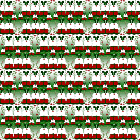 Victorian Christmas Dresses Collage Fabric #1  fabric by lworiginals on Spoonflower - custom fabric
