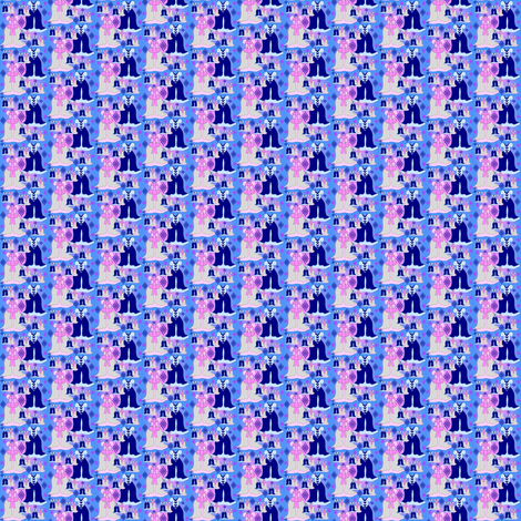 Victorian Pink and Blue Dresses Collage Fabric fabric by lworiginals on Spoonflower - custom fabric