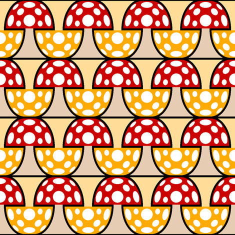 fungi 2j 2 = 1x fabric by sef on Spoonflower - custom fabric