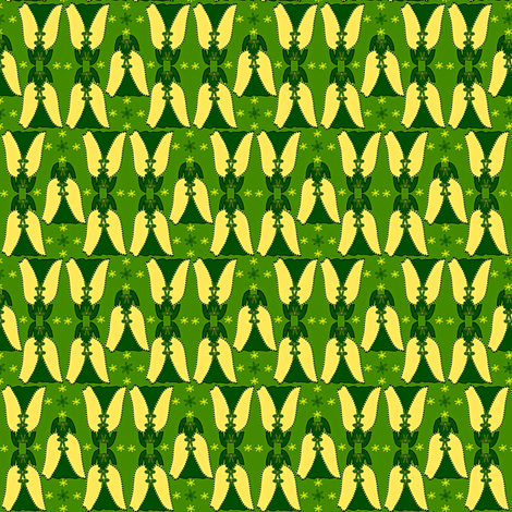 Victorian Green and Yellow Dress Fabric #1 fabric by lworiginals on Spoonflower - custom fabric
