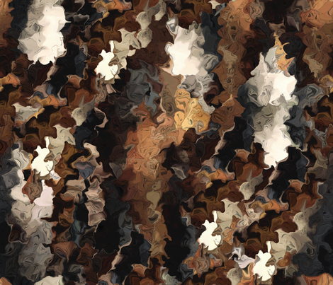 Crape Myrtle Bark in Fractals fabric by anniedeb on Spoonflower - custom fabric