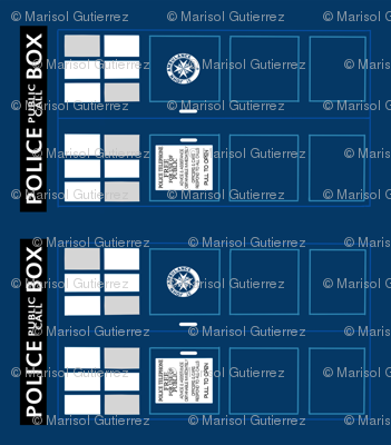 Tardis pattern for pouches