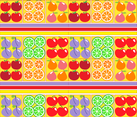 SOOBLOO__FRUITS_GALORE-3-01 fabric by soobloo on Spoonflower - custom fabric