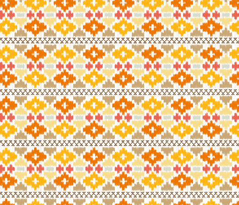 Navajo blanket - Sunset fabric by boeingbleu on Spoonflower - custom fabric