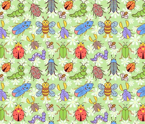 cute insects fabric by kiyanochka on Spoonflower - custom fabric