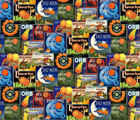 California Oranges fabric by vinpauld on Spoonflower - custom fabric