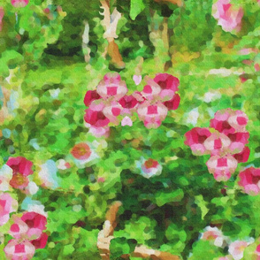 Painted Hollyhocks