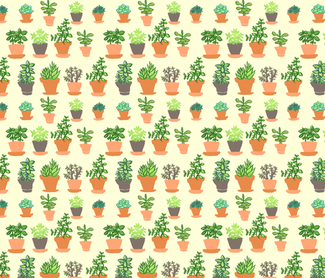 Windowsill Garden MD fabric by hugandkiss on Spoonflower - custom fabric