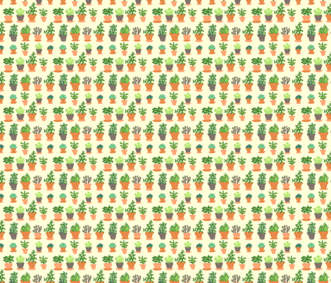 Windowsill Garden SM fabric by hugandkiss on Spoonflower - custom fabric