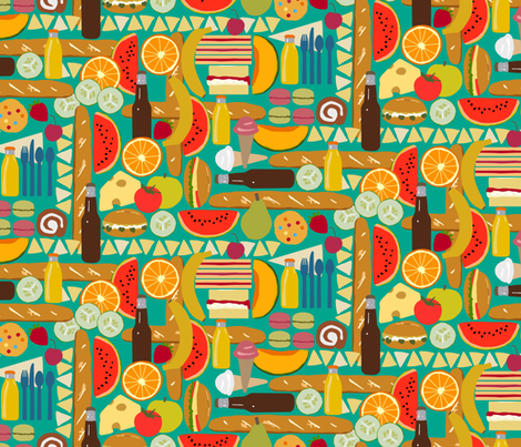 nom nom fabric by scrummy on Spoonflower - custom fabric