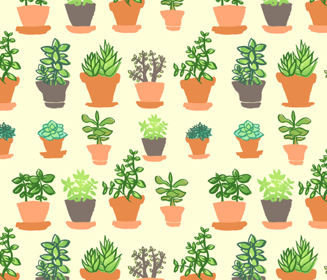 Windowsill Garden LG fabric by hugandkiss on Spoonflower - custom fabric