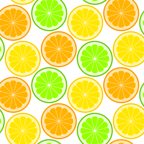 citrus slices S43 fabric by sef on Spoonflower - custom fabric