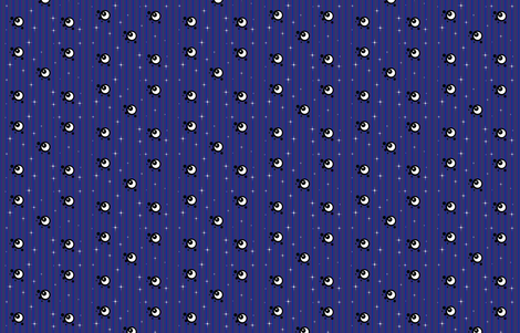 La Luna Stripe fabric by undercovernerd on Spoonflower - custom fabric