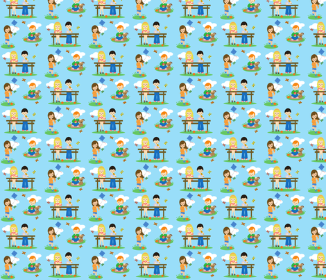 Playful Picnic fabric by kiwicuties on Spoonflower - custom fabric
