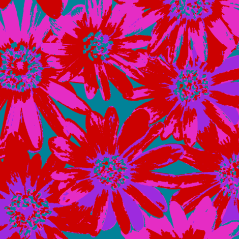 mad, mad flowers fabric by weavingmajor on Spoonflower - custom fabric