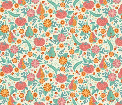 Farmer's Market - Sorbet Palette -  Flower Vendor fabric by jennartdesigns on Spoonflower - custom fabric