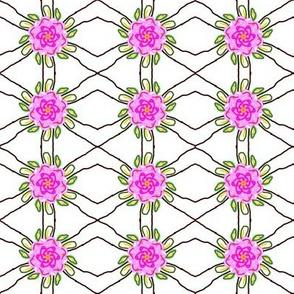Pink Flower Trellis
