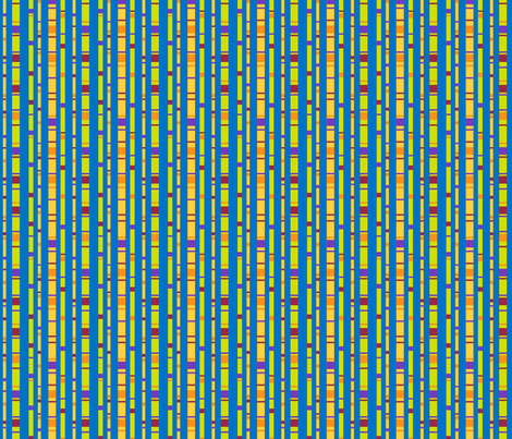 Confetti Stripes on Blue fabric by jjtrends on Spoonflower - custom fabric