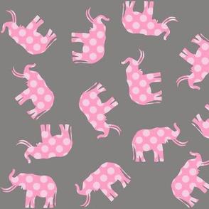 Pink Polka Elephant