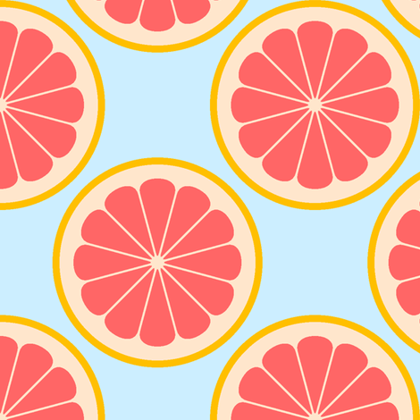 citrus slices R4X : grapefruit fabric by sef on Spoonflower - custom fabric