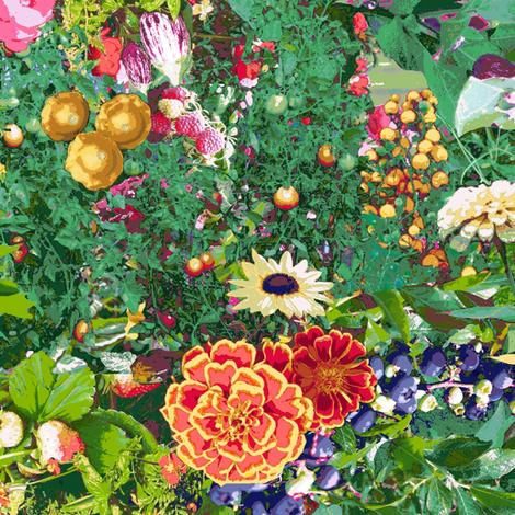 Farmer's Market Bounty Garden fabric by bloomingwyldeiris on Spoonflower - custom fabric