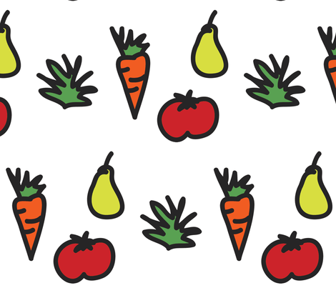 Farmer's Market fabric by milkmod_studio on Spoonflower - custom fabric