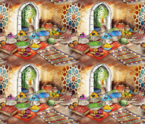 Morocco market fabric by cassiopee on Spoonflower - custom fabric