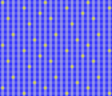 BlueGingham fabric by vena903 on Spoonflower - custom fabric