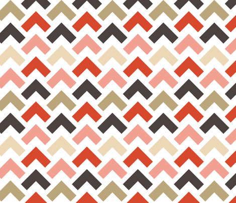 chevron arrow fabric by laura_the_drawer on Spoonflower - custom fabric
