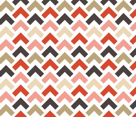 chevron arrow fabric by laurawrightstudio on Spoonflower - custom fabric