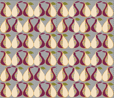 SOOBLOO_PEARS_-7M-1-01 fabric by soobloo on Spoonflower - custom fabric
