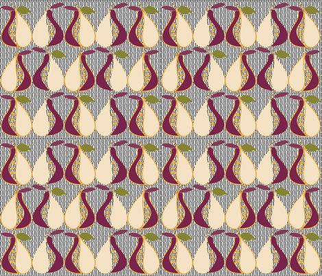 SOOBLOO_PEARS_-7M-1-01 fabric by soobloo on Spoonflower - custom fabric