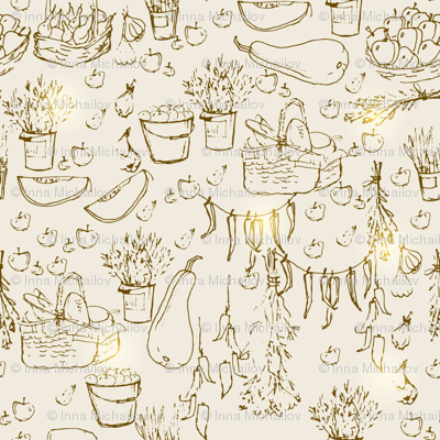 seamless farmer pattern