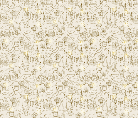 seamless farmer pattern fabric by abbilder on Spoonflower - custom fabric