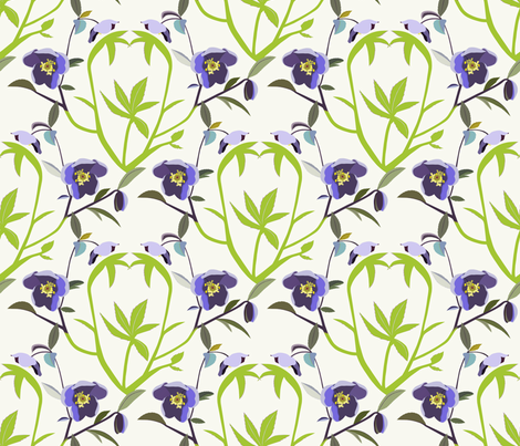 Helleborus fabric by alfabesi on Spoonflower - custom fabric