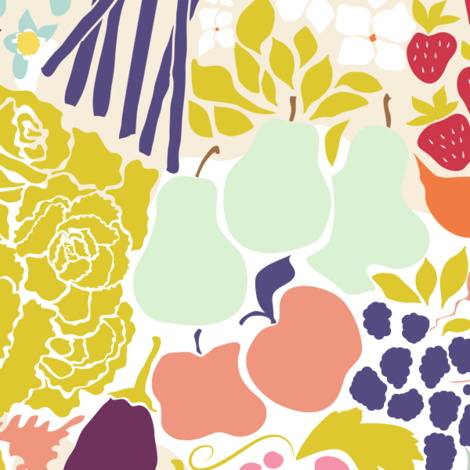Farmers Market fabric by chrissievh on Spoonflower - custom fabric